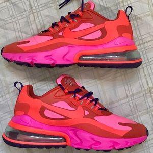 Nike Shoes Air Max 270 React Red Pink Purple Mens Sz 95 Poshmark